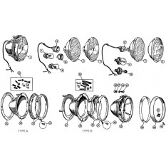 Headlamps - MGA (1955-62)
