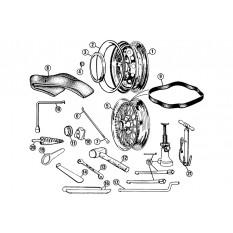 Road Wheel & Tools - MGA (1955-62)