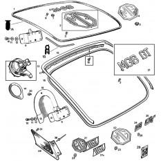 Boot Lid Fittings - MGB & MGB GT (1962-80)