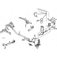 Door Handles & Locks: Pull Handle & Lever Type - MGB & MGB GT (1962-64)