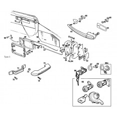 Door Handles & Locks: Push Button & Flush Type - MGB & MGB GT (1968-80)