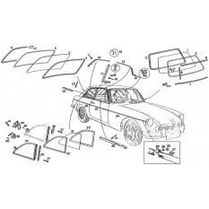 Windscreen - MGB GT (1965-80)