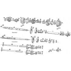 Internal Gearbox: 3 Synchro Shafts & Gears - MGB