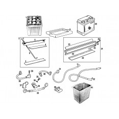 Battery & Fittings - MGB