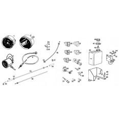 Gauges, Cables & Washer System - MGB GT V8 (1973-76)