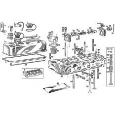 Cylinder Head: 3 Main Bearing (18G-GA) - MGB & MGB GT (1962-64)