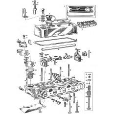 Cylinder Head: 5 Main Bearing (18GB-18V) - MGB & MGB GT (1964-80)