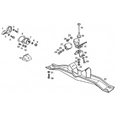 Engine & Gearbox Mountings - MGB GT V8 (1973-76)