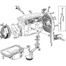 Oil System: 3 Main Bearing (18G-GA) - MGB & MGB GT (1962-64)