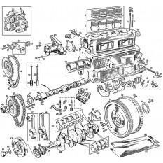 External & Internal Engine: 5 Main Bearing (18GB-18V) - MGB & MGB GT (1964-80)