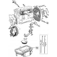 Oil System: 5 Main Bearing (18GB-18V) - MGB & MGB GT (1964-80)