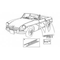 Side Mouldings & Fittings - MGB & MGB GT (1962-80)