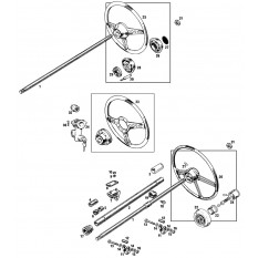 Steering Column & Wheels: Non-Collapsible - MGB & MGB GT (1962-72)