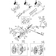 Clutch Pedal, Linkages & Mechanism - Minor