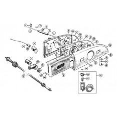 Gauges & Instruments: Offset Speedo - Minor (1951-54)