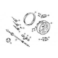 Gauges & Instruments: Centre Speedo - Minor (1954-71)