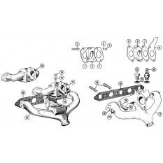 Inlet & Exhaust Manifolds - Minor (1951-71)