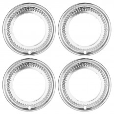 Wheel Trims, period style, aluminium, 4 pieces
