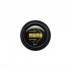 Button, horn, 1 contact, arrow gloss black, MOMO