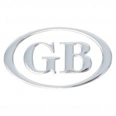 GB Letter Set, oval, chrome, 3 piece