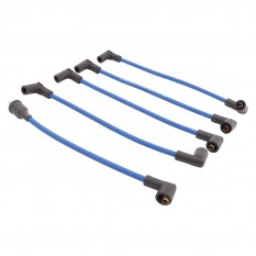 HT Lead Set, silicone, blue, 8mm