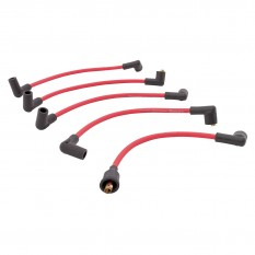 HT Lead Set, silicone, red, 8mm