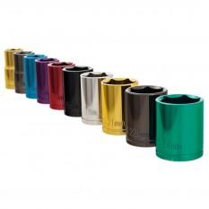 "Socket Set, 1/2"" drive, 10 piece, Metric, multi-coloured"