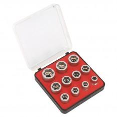 """Socket Extractor Set, 3/8"""" drive, metric, 11 piece"""