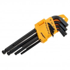 Hex Key Set, ball-end, 9 piece, imperial