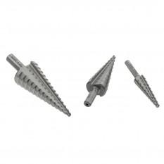 Step Drill Bit Set, metric, 4-30mm