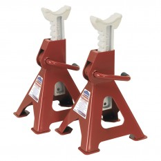 Axle Stands, ratchet type, 3 ton, pair