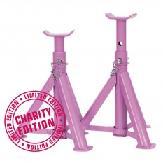 Axle Stands, folding type, 2 ton, pair, pink