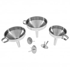 Funnel Set, stainless steel 3pc