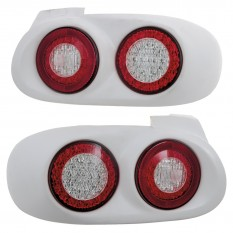 Rear Lights, dual style, fibreglass, CarbonMiata