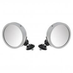 Door Mirrors, Raydyot style, satin, pair