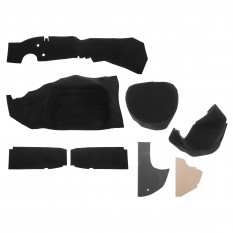 Boot Carpet Set, nylon, black