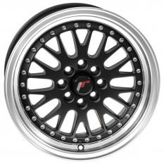 """Wheel, JR10, 15"""" x 7"""", ET30, matt black/polished lip"""