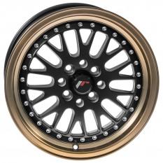 "Wheel, JR10, 15"" x 7"", ET30, matt black/bronze lip"