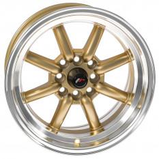 """Wheel, JR19, 15"""" x 8"""", ET0, gold/polished lip"""