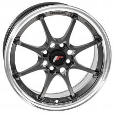 """Wheel, JR5, 15"""" x 7"""" ET35, gunmetal/polished lip"""