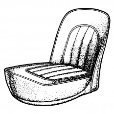 Seat Cover Kits: Front - TR2-4A