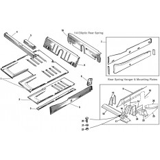 Floor & Rear Inner Panels - Sprite I, II & Midget I