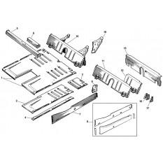 Floor & Rear Inner Panels - Sprite III & Midget II