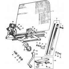 Door Glass & Fittings: Sprite III & Midget II