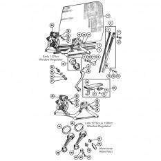 Door Glass & Fittings: Sprite IV & Midget III, 1500cc