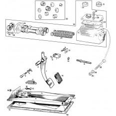 Master Cylinder & Pedal - Sprite & Midget 948-1098cc