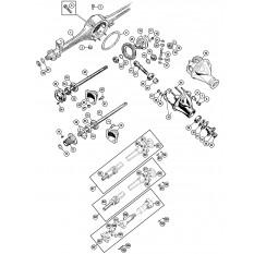 Propshaft & Rear Axle - Sprite IV & Midget III-1500 (1967-79)