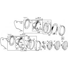 Headlamps & Fittings: Sprite I, II, III & Midget I, II