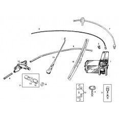 Windscreen Wiper Motor, Arms & Blades - Sprite & Midget 948-1098cc