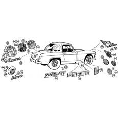 Badges - Sprite IV & Midget III-1500 (1966-79)